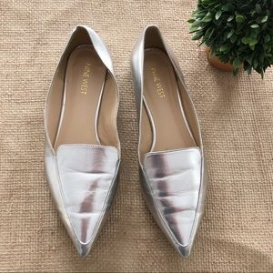 Nine West | Metallic Silver Loafers | 8.5